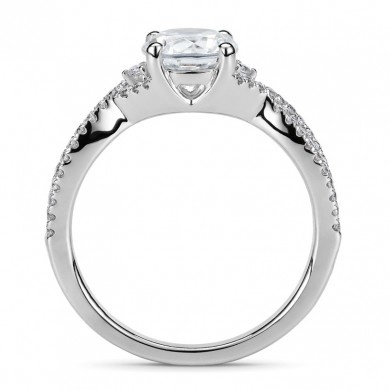 Diamond Land Engagement Ring