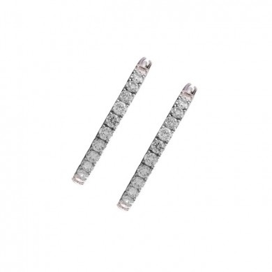 Diamond Land Huggie Earrings