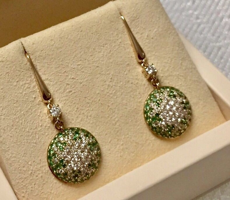 STDiamond Dangle Earrings
