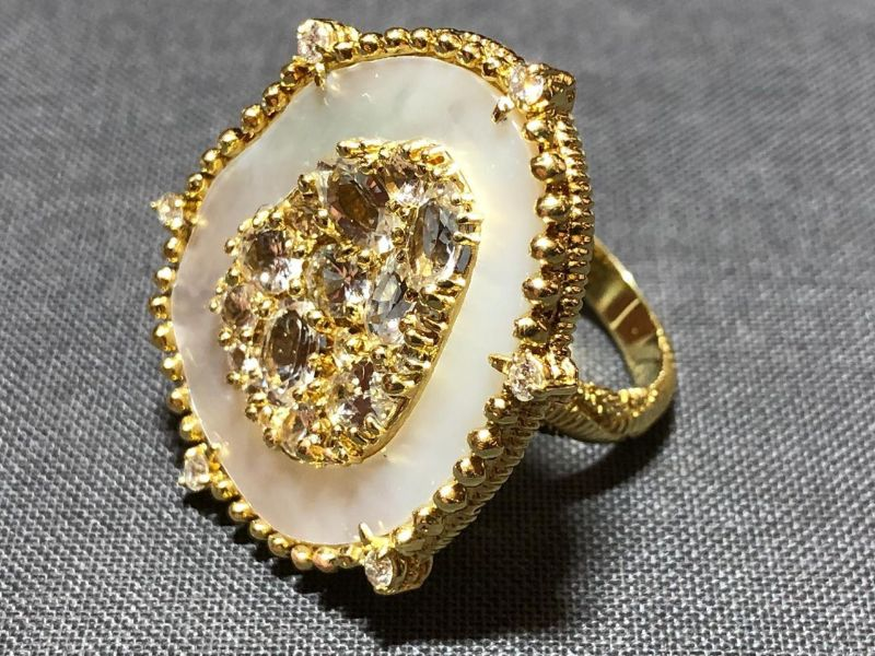 Udith Ripka Oasis Mother Of Pearl & White Sapphire